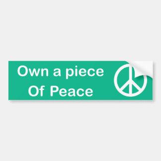 平和バンパーステッカーの部分を所有するため バンパーステッカー