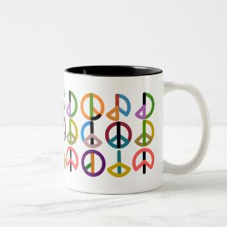 平和ビート/黒325のmlのツートーンマグ ツートーンマグカップ