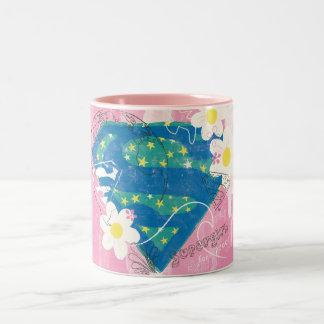 平和ピンクのためのSupergirl ツートーンマグカップ