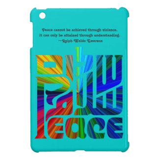 平和ヘブライ、英語の言語、アラビア語または青 iPad MINIカバー