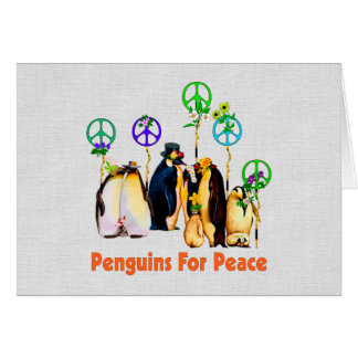 平和ペンギン カード