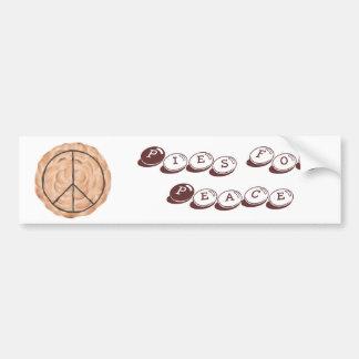 平和メレンゲの平和パイバンパーステッカーのためのパイ バンパーステッカー