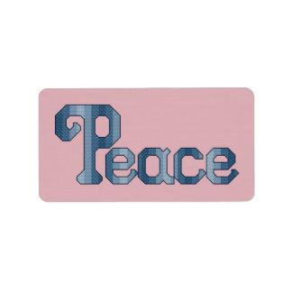 平和ラベルのステッカー ラベル