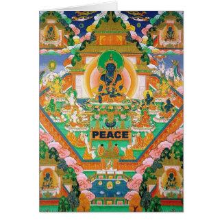 平和仏: Akshobhya: チベット語Thangka: カード