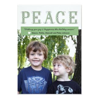 平和休日の写真カード カード