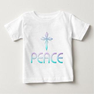 平和十字のクリスチャン ベビーTシャツ