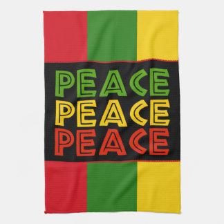 平和単語 キッチンタオル