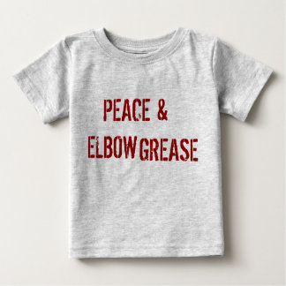 平和及びハードワーク ベビーTシャツ