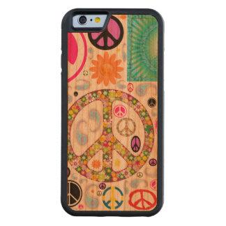 平和及びペイズリーのコラージュ CarvedチェリーiPhone 6バンパーケース