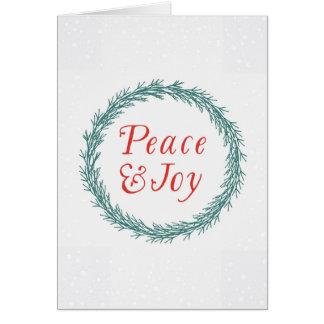 平和及び喜びのクリスマスカード カード
