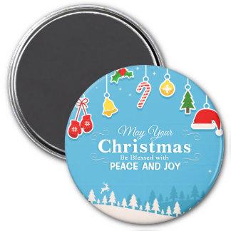 平和及び喜びのクリスマス の磁石によって賛美される マグネット