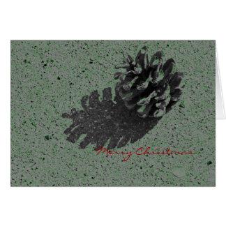 平和及び喜びのメリークリスマスのマツ円錐形カード カード