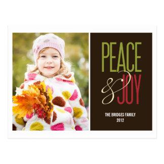 平和及び喜びの休日の写真カード郵便はがき ポストカード