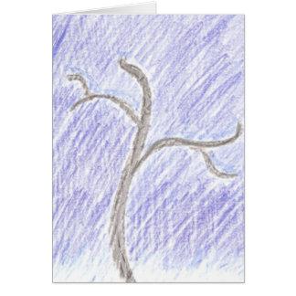 平和及び喜びの空白のな冬休みカード カード