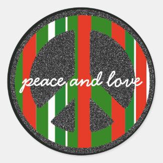平和及び愛記号 ラウンドシール