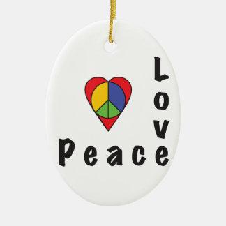 平和及び愛! セラミックオーナメント