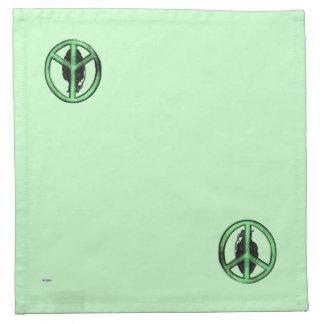 平和及び戦争(緑か砲金の灰色) ナプキンクロス