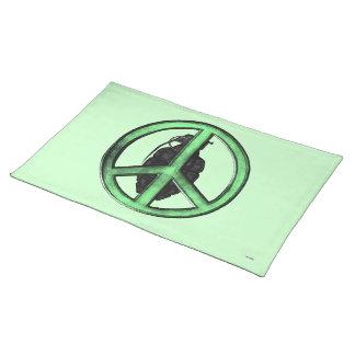 平和及び戦争(緑か砲金の灰色) ランチョンマット