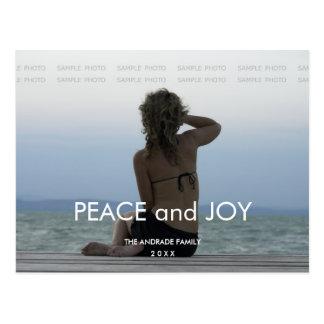 平和喜びの休日の写真のシンプルなクリスマスの挨拶 ポストカード