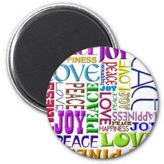 平和喜び愛幸福 マグネット