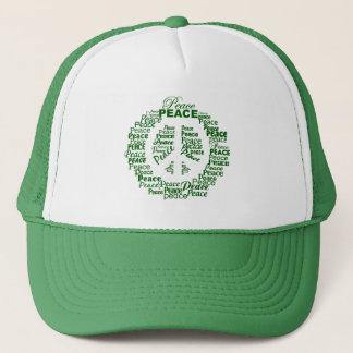 平和帽子-緑 キャップ