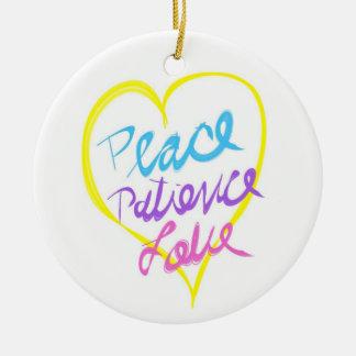 平和忍耐愛オーナメント セラミックオーナメント