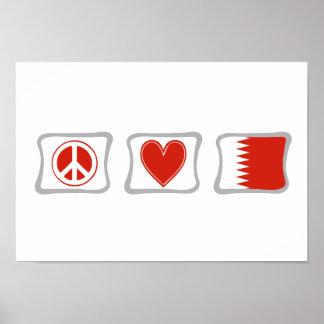 平和愛およびカタールの正方形 ポスター