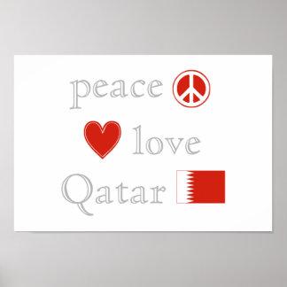平和愛およびカタール ポスター