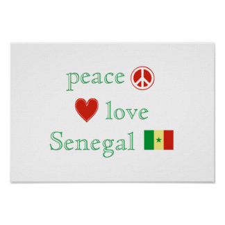 平和愛およびセネガル ポスター