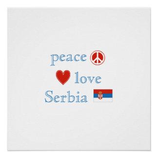 平和愛およびセルビア ポスター