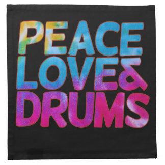 平和愛およびドラム ナプキンクロス
