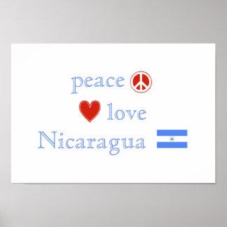 平和愛およびニカラグア ポスター