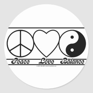 平和愛およびバランス ラウンドシール