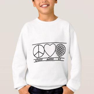 平和愛およびパイ スウェットシャツ