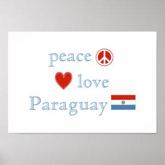 平和愛およびパラグアイ ポスター