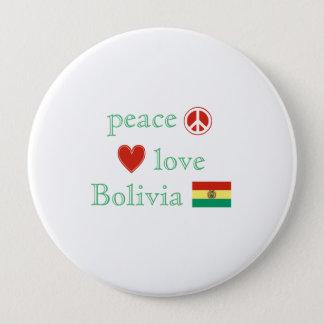 平和愛およびボリビア 10.2CM 丸型バッジ