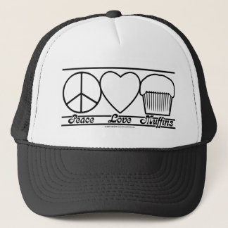 平和愛およびマフィン キャップ
