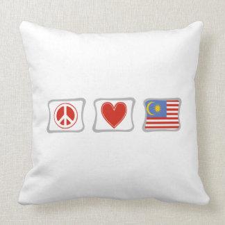 平和愛およびマレーシアの正方形 クッション