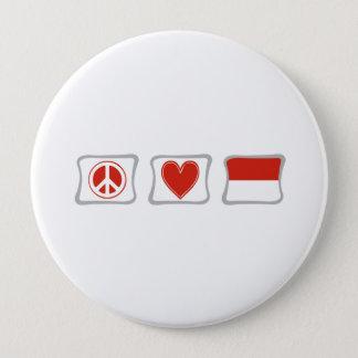 平和愛およびモナコの正方形 10.2CM 丸型バッジ