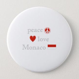 平和愛およびモナコ 10.2CM 丸型バッジ