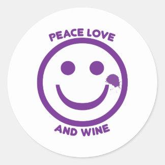 平和愛およびワイン ラウンドシール