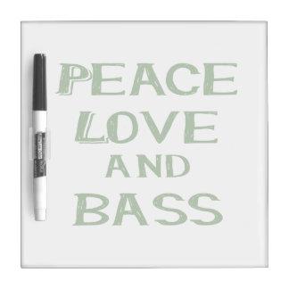 平和愛および低音のberniceの緑 ホワイトボード