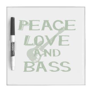 平和愛および低音のberniceはwのギターを緑化します ホワイトボード