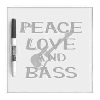 平和愛および低音のberniceはw guitar.pngを黒くします ホワイトボード