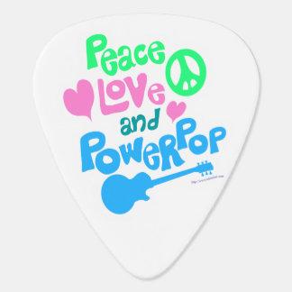 平和愛および力の破裂音 ギターピック