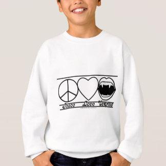 平和愛および吸血鬼 スウェットシャツ