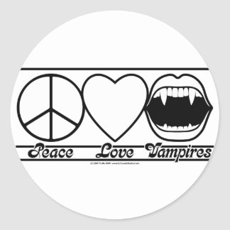 平和愛および吸血鬼 ラウンドシール