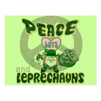平和愛および小妖精 ポストカード