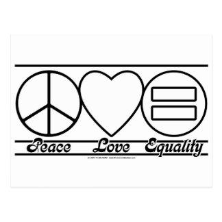 平和愛および平等 ポストカード