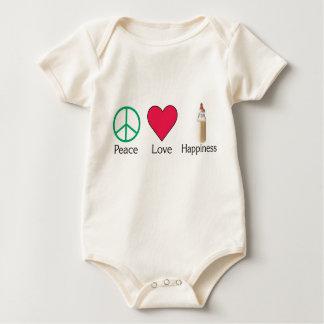平和愛および幸福-ベビー ベビーボディスーツ